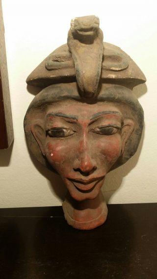 Ancient Egyptians Pharaoh Akhenaten Mask (1353–1336 Bc) First To Worship 1 God photo