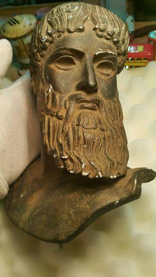 Vintage Poseidon Roman Greek God Bust Zeus Leonidas Soldier Warrior Unknown Era photo