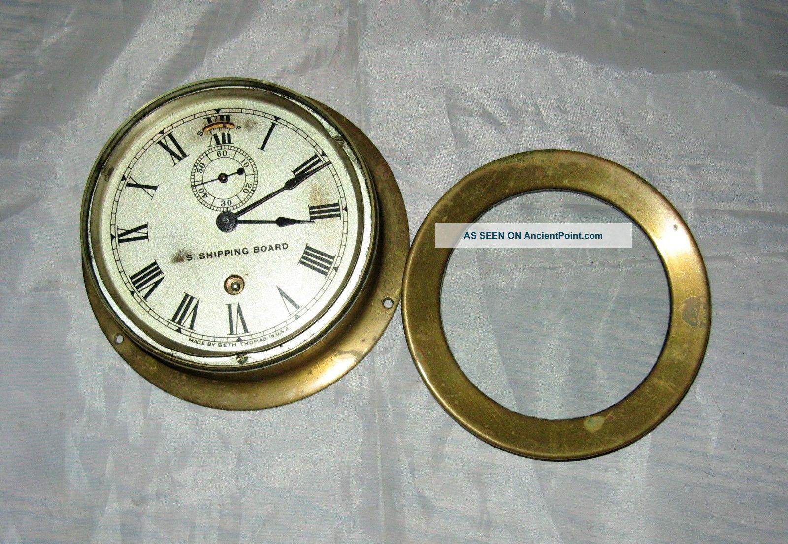 Vintage Brass Seth Thomas Ships Clock Us Board Clocks photo