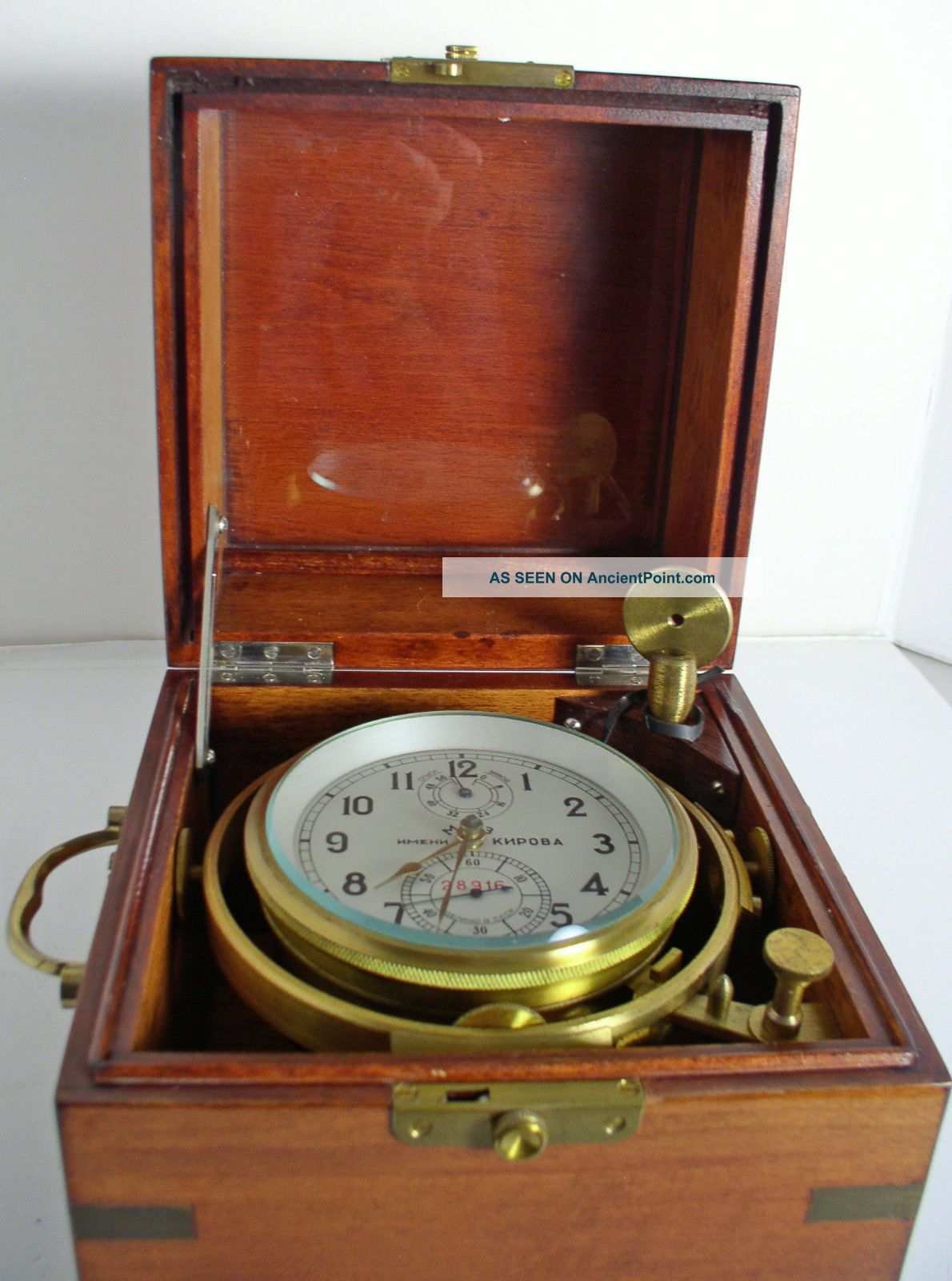 Marine Ships Chronometer Russian,  Kirov,  First Moscow Watch Co. Clocks photo