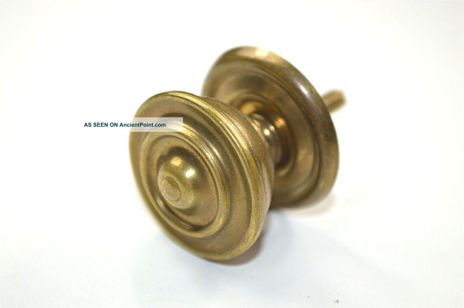 Vintage Antique Brass Classic Cupboard Knob Cabinet Handle Pull P12 Other Antique Hardware photo