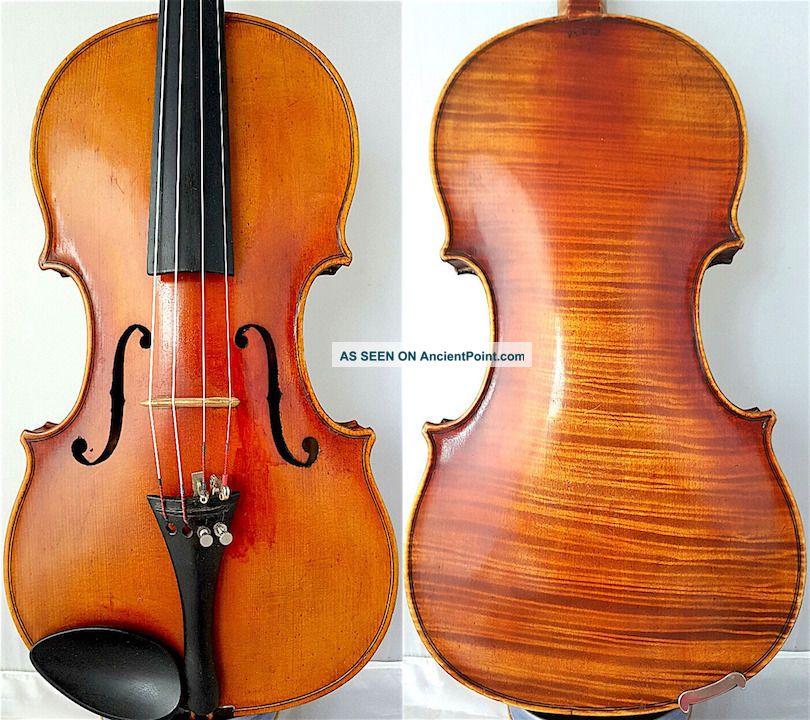 Fine 4/4 Old German Amati Violin Klotz Antique Tiger Wood 小提琴 СКРИПКА Geige String photo