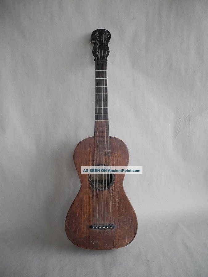 Very Rare Antique Guitar - Around 18th Century String photo