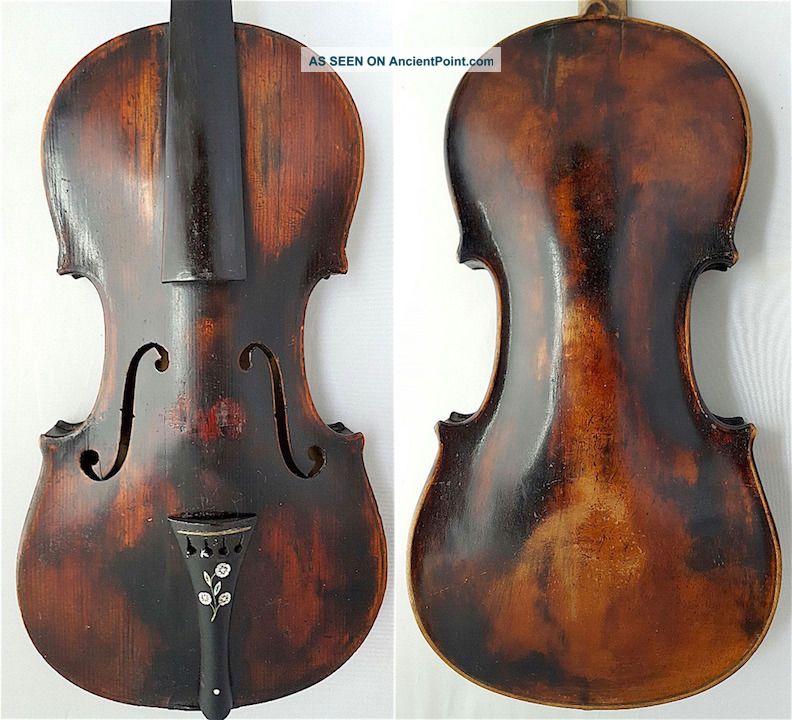 250y.  Old Exr.  Rare Antique 4/4 Nicolaus Amati Violin Old Wood 小提琴 СКРИПКА Geige String photo