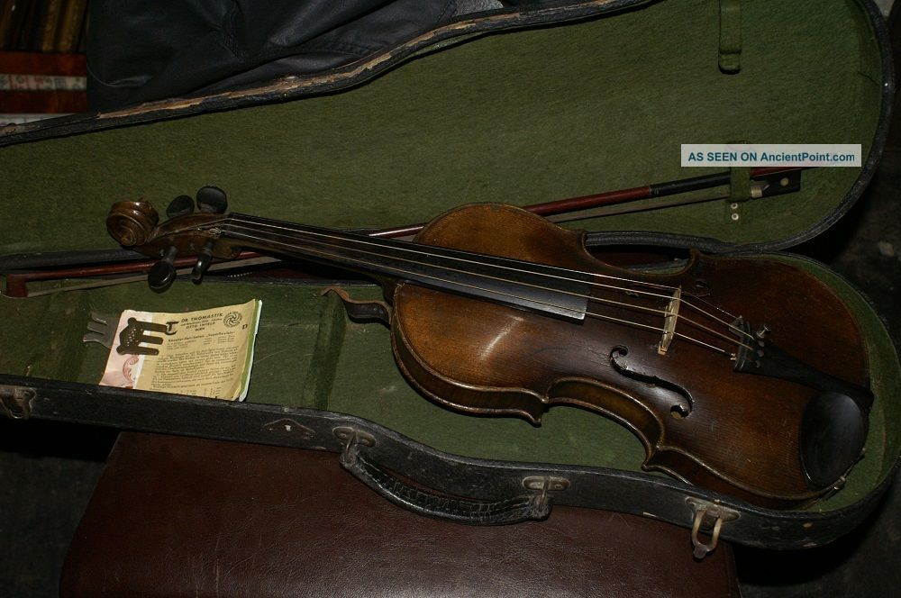 Old Antique Violin With Case And Bow Ventapane 1860 String photo