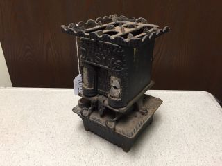 Rare Central Oil Gas Stove Co.  Daisy No.  2 Cast Iron Food Warmer Pat.  1893 - photo