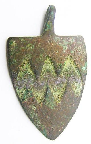 13th Century Medieval Heraldic Pendant Sir William Vavasour Yorkshire Knight photo