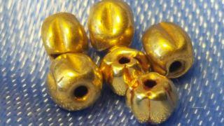 Roman Gold Beads X 6 photo