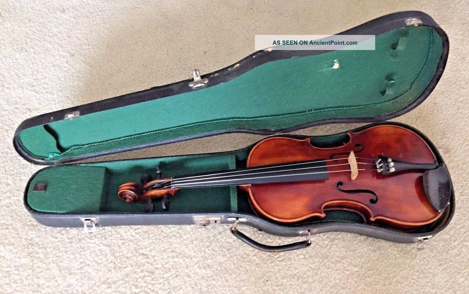 Antique John Juzek Prague Violin With Label From Circa 1920 ' S Cond String photo
