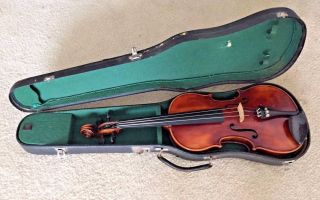 Antique John Juzek Prague Violin With Label From Circa 1920 ' S Cond photo