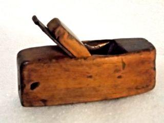 Antique Handmade Carpenters Wood Plane Primitive Tool Small Unique photo
