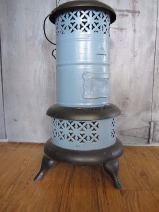 Vintage Perfection 630 Smokeless Oil Kerosene Heater Blue Porcelain Usa photo