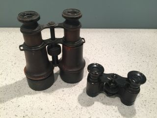 Antique Binoculars & Opera Glasses (2 Pr) - L.  Petit Fabt & Iris,  Paris,  1920s photo