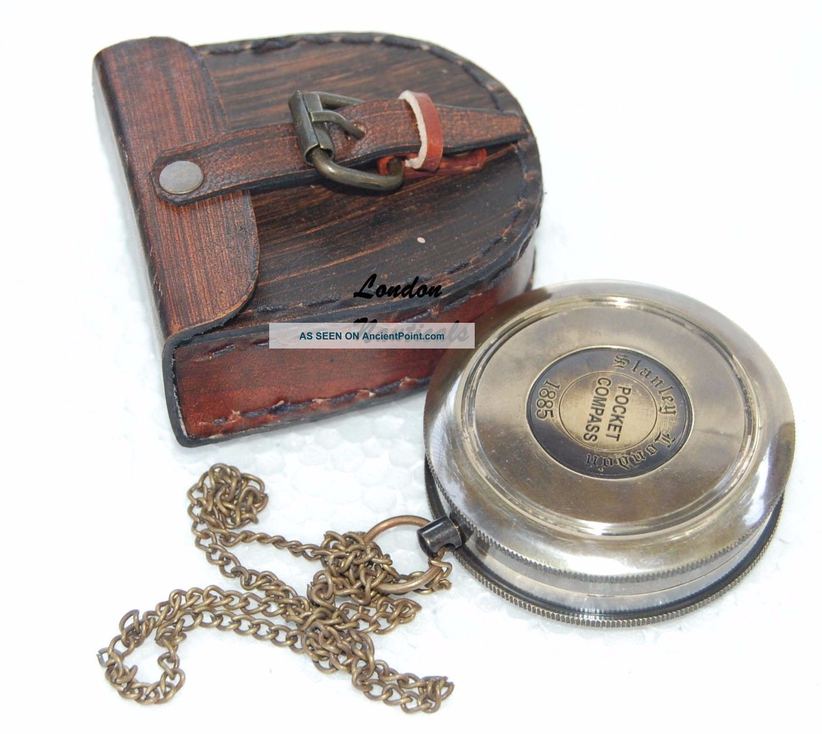 Antique Vintage Collectible Poem Pocket Compass With Robert Frost Poem Inside Compasses photo