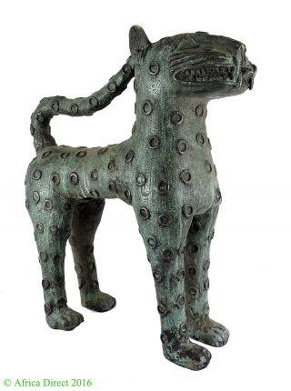 Benin Leopard Bronze Nigeria African Art 19 Inch Was $499 photo