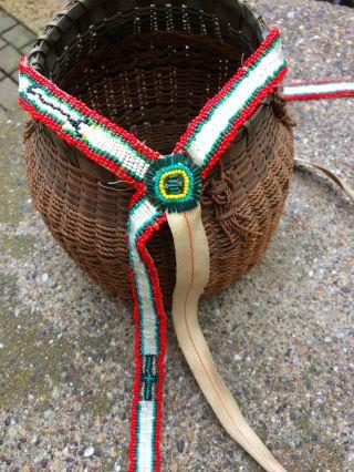 Old Nez Perce Beaded Horse Bridle Gov Feed Sack Straps Native American photo