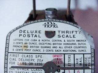 Vintage Idl Mfg.  Scale Corp.  Ny,  Deluxe Thrifty Postal Scale 1lb 1930s 1940s photo