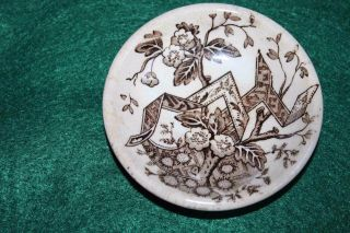 Antique Aesthetic Movement Transferware Butter Pat,  Wedgwood,  Beatrice photo