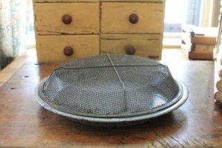 Vintage Graniteware Pie Pan & Screen Cover photo
