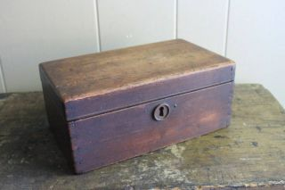 Antique Wooden Jewelry Document Box Finish photo