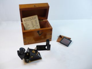 Antique Rare Refractometer By J.  H.  Steward Of London,  Fitted Case & Accessories photo