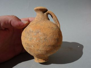 Ancient Roman Jug Pottery Terracotta Vessel Totally Intact photo