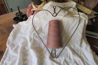 Antique Vintage Primitive String Thread Holder photo