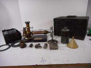 Complete Testing Piece For Measuring Preasure In Rr Steam Engine W/both Cases photo