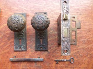 Antique Bronze Passage Doorknobs Doorplates & Lock
