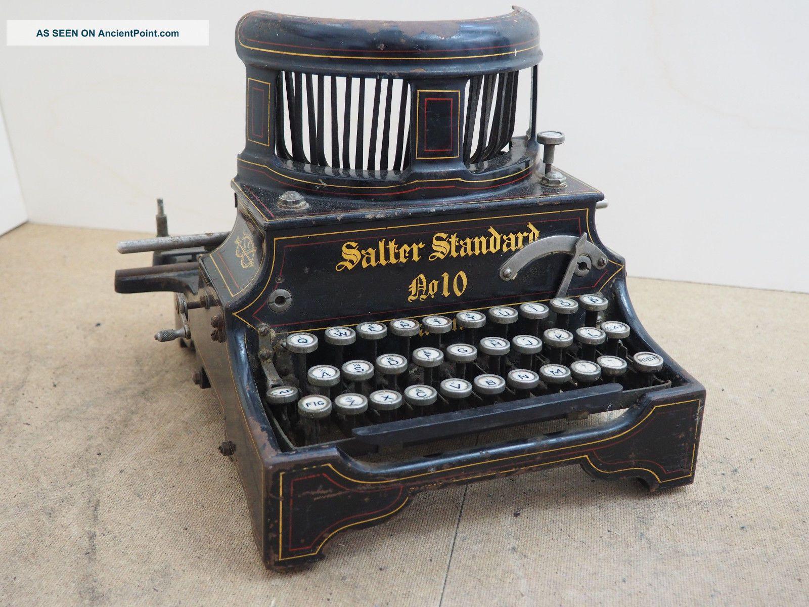 Antique Typewriter Salter 10 Schreibmaschine Ecrire Escribir Scrivere Typewriters photo