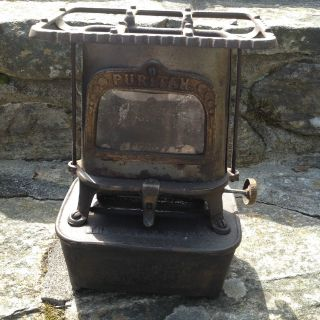 Antique Florence Cast Iron Kerosene Heater - - Florence Mass. photo
