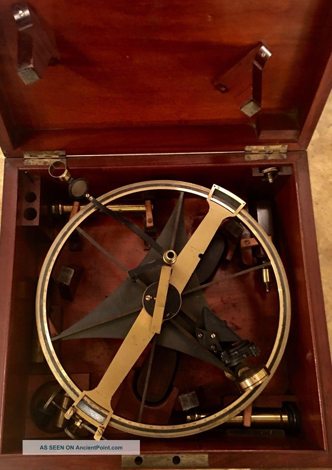Rare Antique Pistor & Martins Meridian Circle Sextant Scientific Instrument Sextants photo