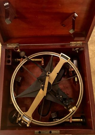 Rare Antique Pistor & Martins Meridian Circle Sextant Scientific Instrument photo