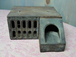 Antique Primitive Tin & Wood Unusual Mousetrap For Repair photo