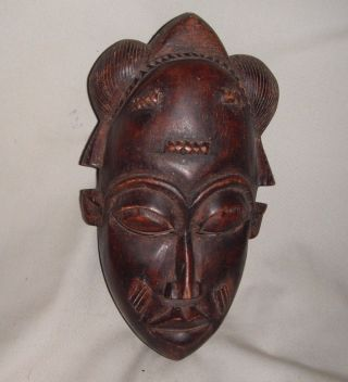 African,  Wooden,  Mask Baule Tribe,  Antique photo