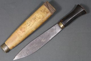 Antique Malagasy Knife - Madagascar Mid 20th photo