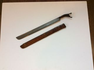 Old Antique Sumatran Aceh Sword With Fine Damascus Blade No Keris Kris Dagger photo