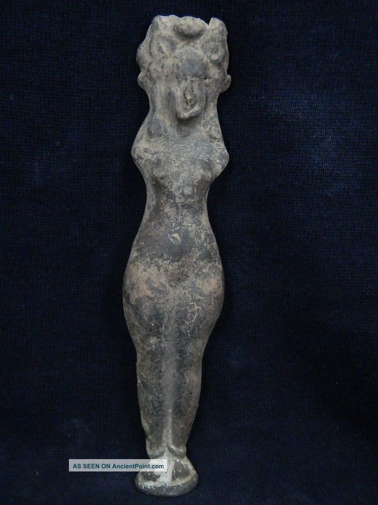 Ancient Large Size Teracotta Lady Figure Roman C.  200 Bc Tr664 Near Eastern photo