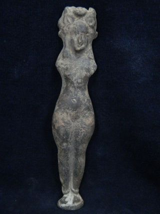Ancient Large Size Teracotta Lady Figure Roman C.  200 Bc Tr664 photo