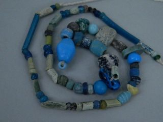 Ancient Glass Beads Strand Islamic 1200 Ad Fbe9 (f) photo