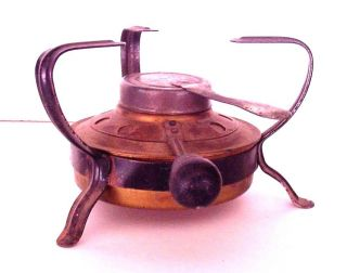 Vintage Single Brass Burner - France - I - Van - Veen - Camping Cook Stove Camp Heater photo