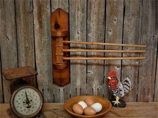 Old Wood Primitive Vintage Kitchen Towel Holder Swing Arm Farmhouse Rustic photo