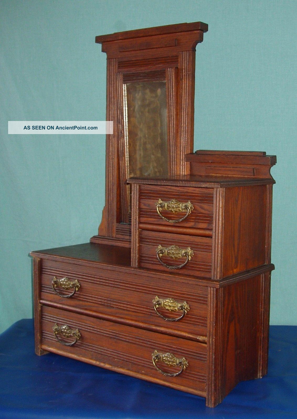 Antique Salesman Sample Dresser Chest Of Drawers 1800-1899 photo