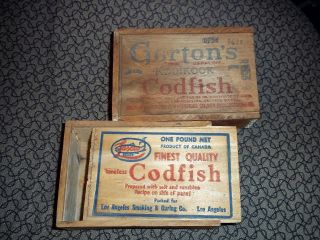 Vintage Codfish Wood Box photo