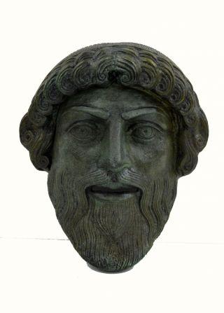 Poseidon Mask Neptune Posidon Bronze God Of The Sea Artifact photo