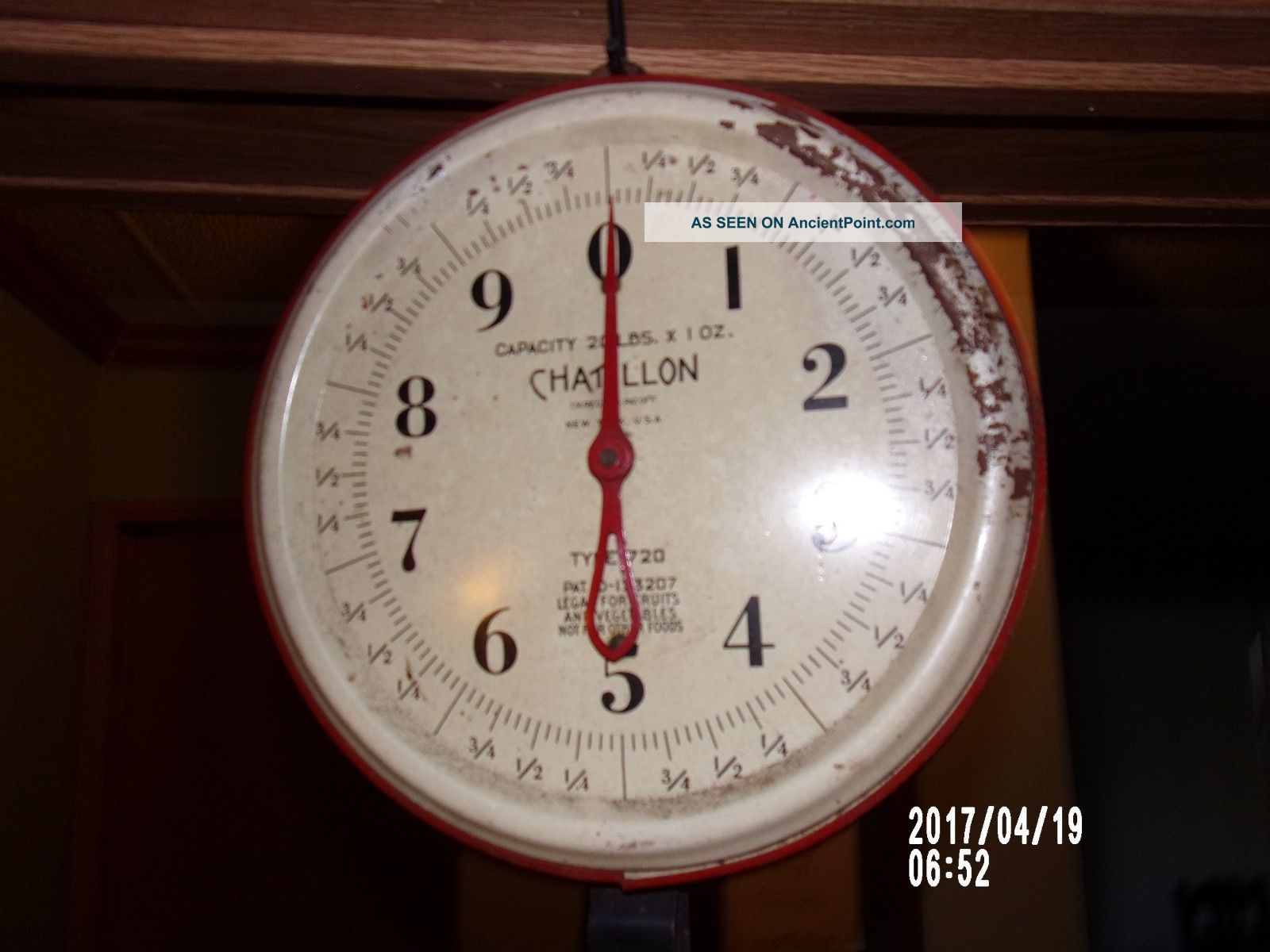 Produce Scale,  Vintage Chatillon 20lb.  Produce Scale,  Vintage Hardware Scale Scales photo