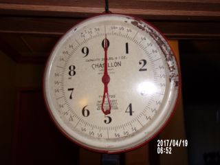 Produce Scale,  Vintage Chatillon 20lb.  Produce Scale,  Vintage Hardware Scale photo