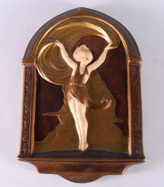 Art Deco Follies Girl Scarf Dancer Decorative Wall Plaque 1930s Pin - Up Girl Form photo