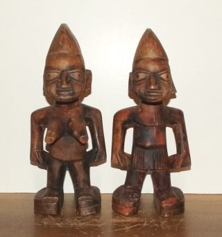 Yoruba People Ibeji Statues - Male & Female,  From Nigeria (3) photo