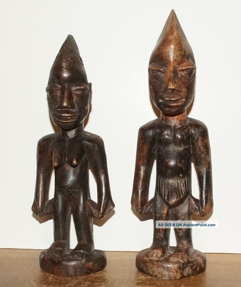 Yoruba People Ibeji Statues - Male & Female,  From Nigeria (4) Sculptures & Statues photo
